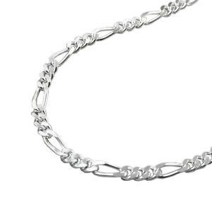 Schmuck Halskette Collier Figarokette 925 Silber Länge 50 cm