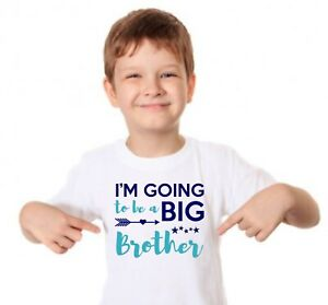 I'm Going To Be A Big brother kids tshirt. childrens Announcement top sibling