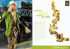 Publicité Advertising 107  2000   Magasins Monoprix Prisunic (2p)  produits Bio