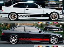 Decal sticker Stripe kit compatible with BMW E36 M3 Bumper Diffuser Headlights