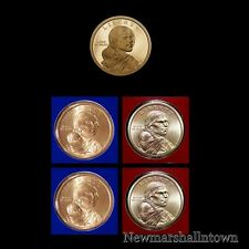 2017 P+D+S Native American Proof Sacagawea Mint Set (PD Pos A and B) Five Coins