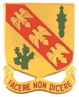 US ARMY 107th Armored Cavalry Unit Crest DUI (Facere Non Dicere)    NEW