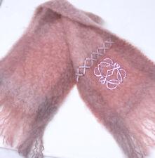 LOEWE Pink Mohair Wool Scarf Made in Spain Soft