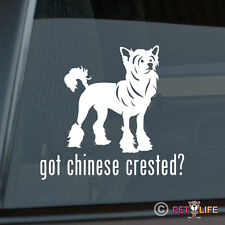 Got Chinese Crested Sticker Die Cut Vinyl - Puff