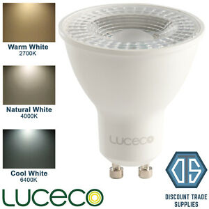 Luceco GU10 5W LED Dimmable Bulb Warm, Natural & Cool White 2700K 4000K 6000K