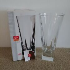 RCR HOME & TABLE FUSION CRYSTAL GLASS VASE NEW IN BOX - MADE IN ITALY