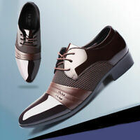 2019 Formal Men Leather New Dress Oxfords Business Dress Fashion Casual Shoes