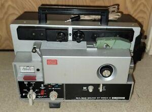 Elmo ST-600 D 2-Track Super 8mm Sound Projector Works!