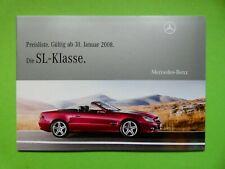Prospekt / Preisliste Mercedes R230 SL mit SL 63 AMG und 65 AMG  01/08