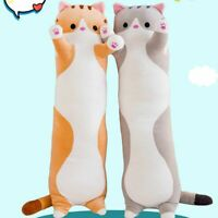 Long Cat Plush Toy Soft Stuffed Kitten Pillow Kid Pillow Birthday Gift Cushion