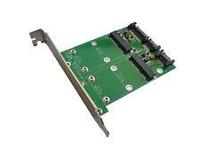 Carte convertisseur 2 ports mSATA vers 2 ports SATA 3.0 6GBPs