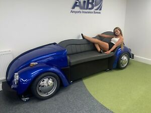 Custom Classic VW Beetle Sofa Bespoke Built Booth Seating For Cinema Room Office