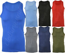 6 Mens Fitted Vests Pure Cotton Gym Summer Top Summer Training