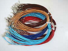 """20PCS 2mm Real Leather Choker Necklace Cords for Pendants Thong Chain 13""""-32"""""""