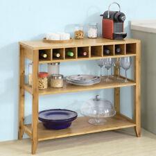 SoBuy Design Sideboard Küchenschrank Konsolentisch Flurschrank Bambus FSB14-N