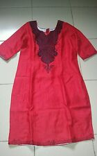 Red Women African clothing Embroidered dress in size 14