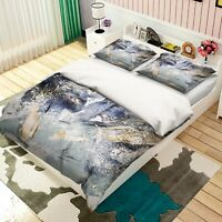 3D Apply Gold Pigment Paper KEP9427 Bed Pillowcases Quilt Duvet Cover Kay