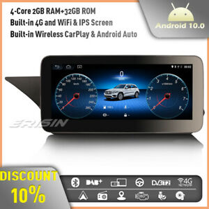 """10.25"""" Android 10 Car Stereo Radio Mercedes Benz E-Class W212 IPS CarPlay DAB+4G"""