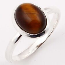 EDH Choose Any Size Fabulous Ring TIGER EYE Gem 925 Solid Sterling Silver c-2989