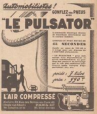 Z9016 L'Air Compressé LE PULSATOR -  Pubblicità d'epoca - 1928 Old advertising