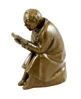 Modern Art Bronze Statue - The Book Reader - 1936 Ernst Barlach - Sculpture