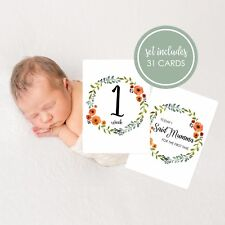 Unisex Baby Milestone Cards. Autumn wreath. Set of 31 cards. Brand New & Sealed