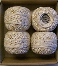 Valdani Perle Cotton size 12, color #M49  4 stk. White Ivory cream