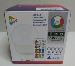Ilc Rgb Led Light Bulb, Color Changing Light Bulb Dimmable 5W E12 Screw Base