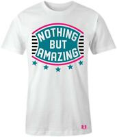 """""""Nothing But Amazing"""" Shield T-shirt to Match Retro """"South Beach"""" 8's"""