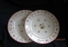WEDGWOOD WILLIAMSBURG R4499 BIANCA  2 X DINNER PLATES 27½CM FREE P&P