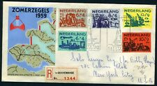 NETHERLANDS NVPH# E38 REGISTERED FDC 1959 TO NEW YORK 5/28/1959 PORTS