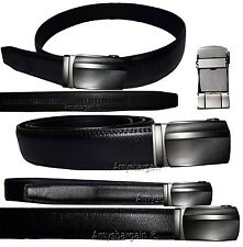 "Real Leather Men's Belt. (S) Automatic lock. Dress & Casual belt. Fashion belt""."