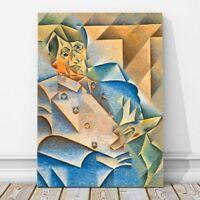 """JUAN GRIS Art - Portrait of Pablo Picasso CANVAS PRINT 12x8"""" - Cubist, Cubism"""