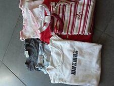 7 T-Shirts Gr.122/128/134 Mädchen Kleider Paket rosa rot batik esprit tcm Marken