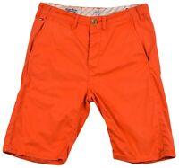 Tommy Hilfiger Denim FOR Men Rock Short Grenadine Bermuda Chino Size 29 Orange