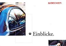 Prospekt Becker Einblicke 9 2001 Car HiFi Autoradio Navigation Traffic Pro Mexic