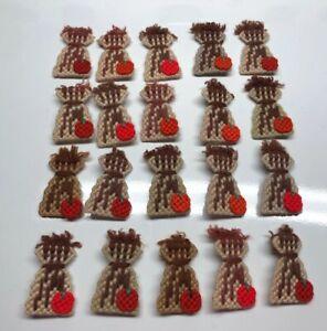 Lot Of 20 Plastic Canvas Pumpkin/ Haystalk Pins & Magnets NEW Halloween/Fall