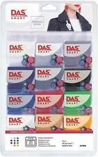 DAS Smart Fashion Style Primary Colours Oven Bake Polymer Clay Set 12 x 27.5g