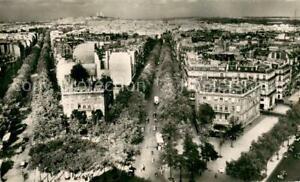 13763709 Paris_75 Arc de Triomphe vers le Sacre Coeur Vue aerienne