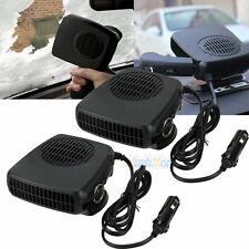 2X 12v 2in1 Portable Ceramic Heating Cooling Heater Fan Car Defroster Demister