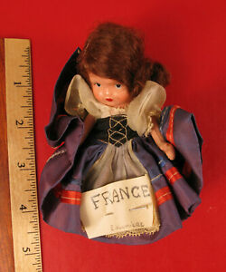 ANTIQUE FRENCH E. LALUMIERE ? GIRL DOLL IN DRESS SELLING AT NO RESERVE !!!
