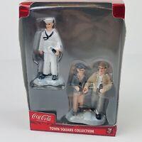 Coca Cola Town Square Collection Sailor and Grandma and Grandpa Figurines NEW