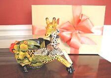 "ARDMORE CERAMIC BOWL Giraffe Monkey Bird 10""T, DARLING! Original $2.2K NEW"