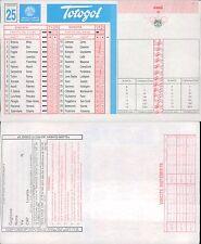 TOTOGOL R@R@  SCHEDA  N.25  A 30 PARTITE DEL 05 03 1995