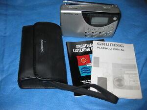 Grundig Platinum Digital G3D Shortwave Radio + manual ,case and guide