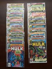 Marvel Super-Heroes Featuring The Incredible Hulk 81-97 Marvel Comics Bronze Age