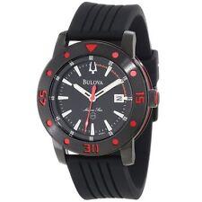 Men's Bulova 98B164 Marine Star Black Dial Black Silicone