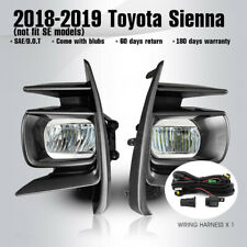 LED DRL Fog Light Lamp & Cover & Wiring & Switch Kit For Toyota Sienna 2018-2020