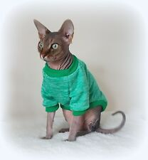 kitten long sleeves MARL GREEN cat jumper for a Sphynx  cat, cat clothes
