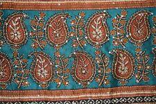 Vintage 100% Pure Silk Sari Pajali Kantha Hand Embroidery Saree Ethnic Sarong